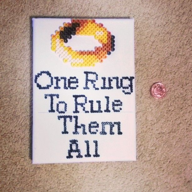 One Ring To Rule Them All Ring To Find Them One Ring To: 17 Best Images About Perler: LOTR/Hobbit On Pinterest