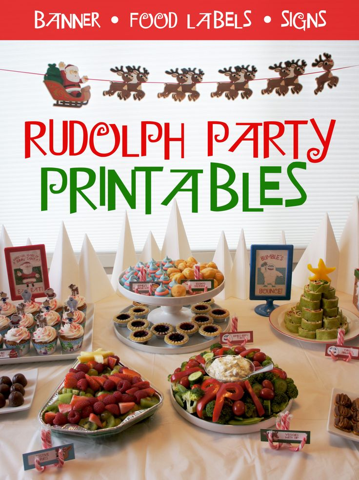 Free Rudolph Party Printables                                                                                                                                                                                 More