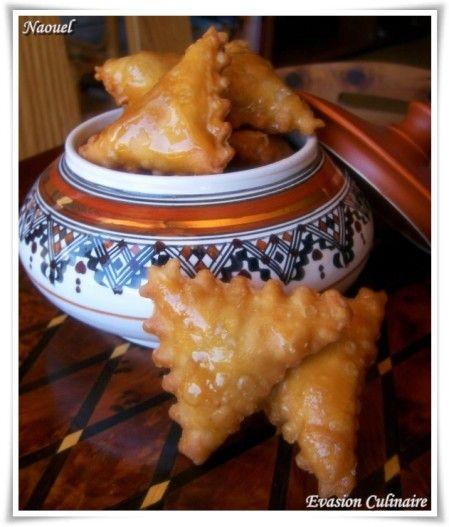 Samsa algerienne triangle aux amandes et au miel gâteau algérien - Evasion Culinaire