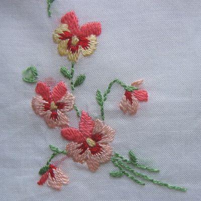 embroidered violets