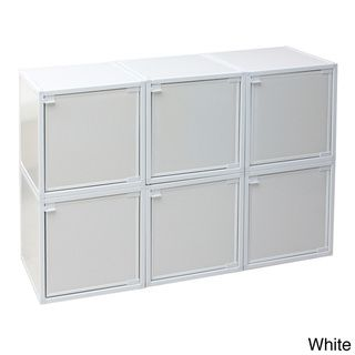 @Overstock.com - zBoard Box Storage Cabinets (Set of 6) - You'll appreciate the look and versatility of these zBoard storage cabinets, which can be stacked and connected to best suit your needs. Sold as a set of six and available in your choice of colors, the cubes hold everything from toys to clothing items.  http://www.overstock.com/Main-Street-Revolution/zBoard-Box-Storage-Cabinets-Set-of-6/8146070/product.html?CID=214117 $106.99
