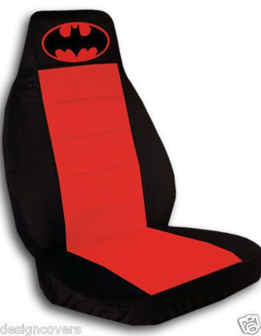 2 Cool Car Seat Covers in Black Red with Red Batman High Quality Nice | eBay