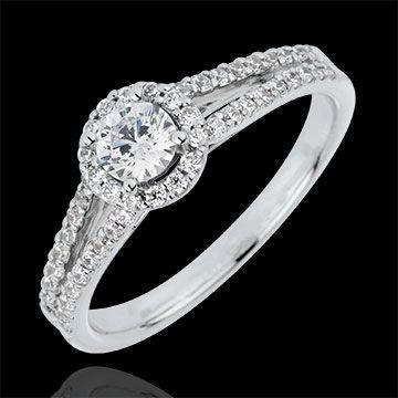 mariage Bague de Fiançailles Or Blanc Solitaire Déclaration - diamant 0.3 carat