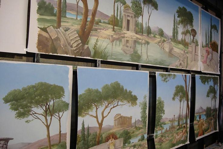 Ian Cairnie Landscape Mural Samples