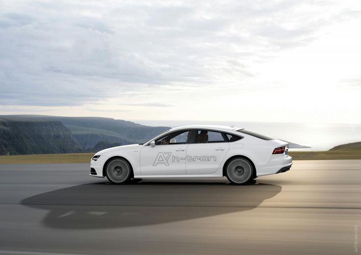 white beauty..Audi A7 Sportback h-tron Quattro Concept