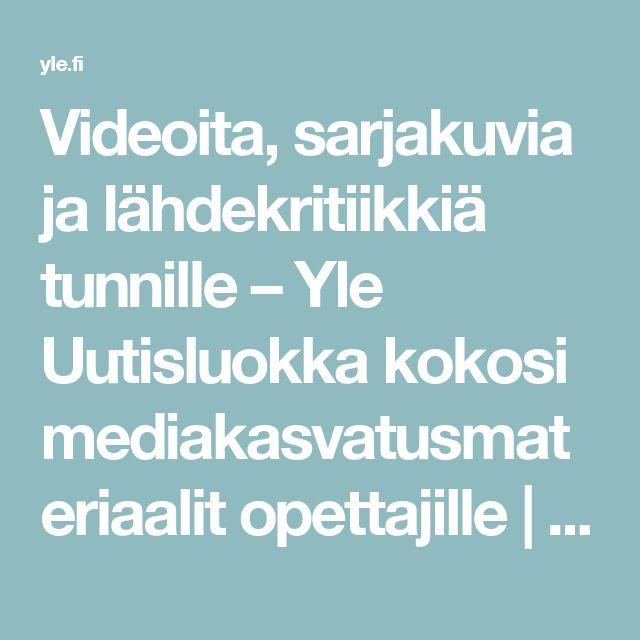 Videoita, sarjakuvia ja lähdekritiikkiä tunnille – Yle Uutisluokka kokosi mediakasvatusmateriaalit opettajille | Yle Uutiset | yle.fi