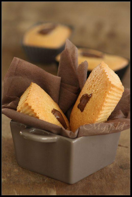 Lingots au coeur de Nutella.