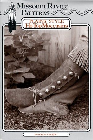 how to make moccasin boots pattern