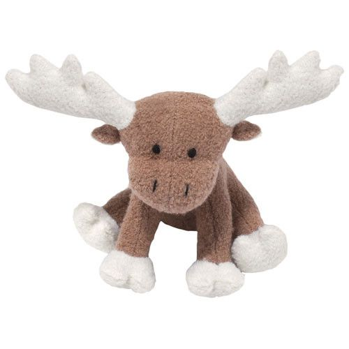 The Large Woolie Moose eco-friendly squeaky wool dog toy is made using boiled wool that has been dyed using non-toxic vegetable dyes. #yourdogwilldigit