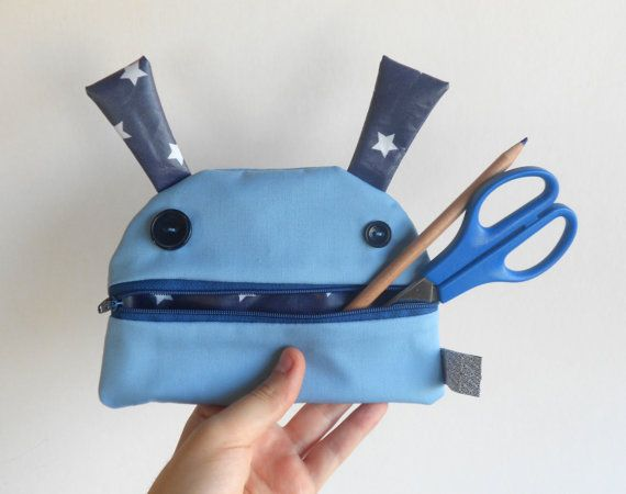 Blue monster big pencil case  Zé coinglutton  Funny by Zezling
