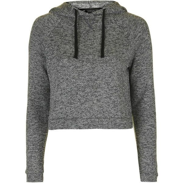 TopShop Sporty Loungewear Hoodie (205 HRK) ❤ liked on Polyvore featuring tops, hoodies, shirts, jackets, sweaters, grey, gray shirt, gray hoodie, cotton hoodie and gray hooded sweatshirt
