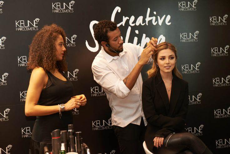 Creative Styling - evento da Keune na Sephora em SP cabelos Mariana Sampaio penteado