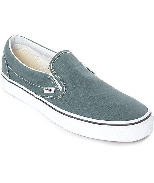 95a5ab6d33d0 Vans Slip-On Goblin Blue-Grey   White Skate Shoes in 2019