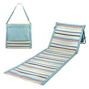 The Beachcomber is for those who enjoy the outdoors and like to be out in it. It's a lightweight, portable beach mat that you can take anywhere. Fully-padded with adjustable reclining backrest, the Beachcomber allows you to stretch out your legs over a durable polyester mat sparing you from messy sand or bug-infested grass. It also features an adjustable shoulder strap and a zippered pocket, large enough to hold magazines and personal effects such as a wallet or shirt. Its steel frame ...
