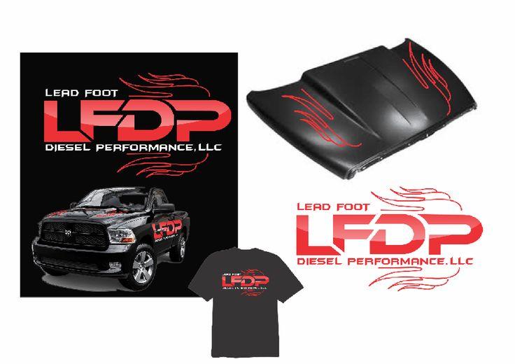 Logo for Lead Foot Diesel Performance, LLC by Lagraphix_Designs