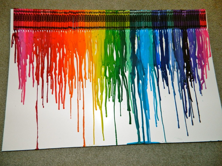 50 best images about art on pinterest perspective for Melted crayon art techniques