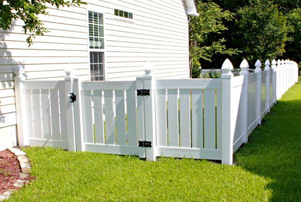 Vinyl fencing garden gates pinterest vinyls white for 4 foot fence ideas