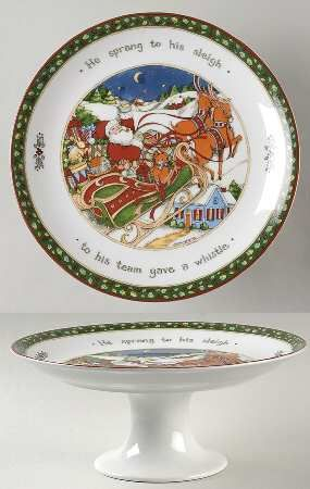 Diameter Pedestal Cake Stand in the Christmas Story pattern by Portmeirion & 42 best u0027Twas the Night Before Christmas... images on Pinterest ...