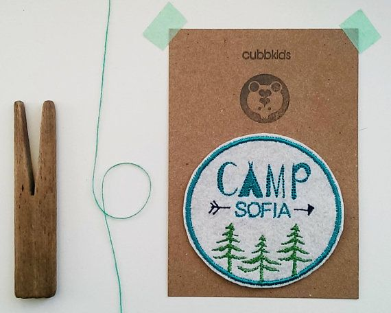 Custom Name Patch/Personalised Embroidered Patch/Camping Party Patch/Summer Camp/Kids Patch/Sew On/Iron on
