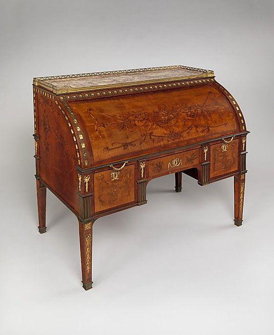 1780 ca. Rolltop desk German David Roentgen (German, Herrnhag 1743–1807 Wiesbaden, master 1780) Maker: The Samuel H. Kress Foundation