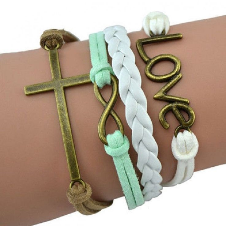 With many different designs to choose from, you can't go wrong! There is something for everyone! Mint and White Colored Love Multi Layered Infinity Bracelet Follow the link to order yours today! https://forevercountry.therusticshop.com/store/