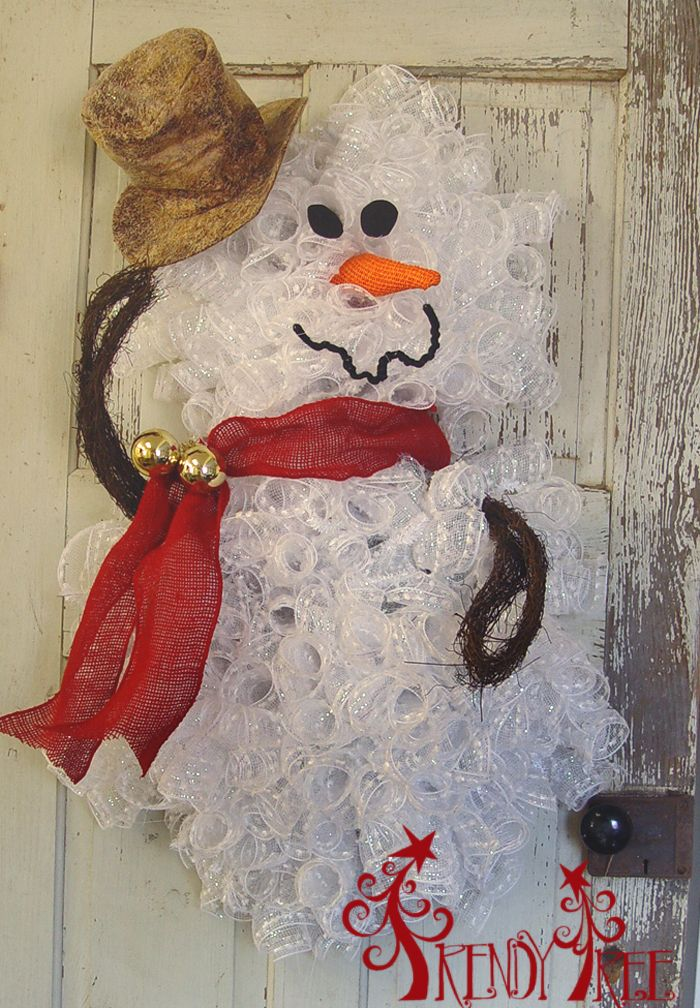 Snowman wreath tutorial crafts snowball and search for Snowman made out of burlap