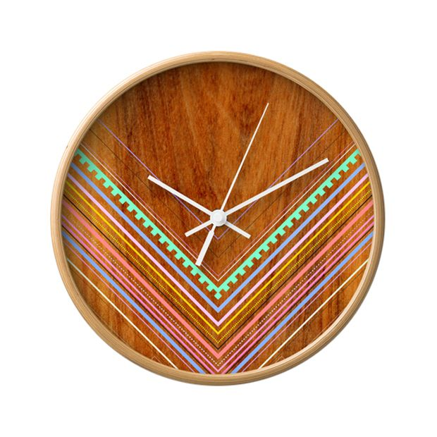 Tuck that smartphone away. It's time to get an old-fashioned time piece—a real, live clock. This one has spunk, vibrant colors and Southwestern style. Time is flying.  Find the New Mexico Wall Clock, as seen in the Vibrant Adobe Style Collection at http://dotandbo.com/collections/vibrant-adobe-style?utm_source=pinterest&utm_medium=organic&db_sku=100730