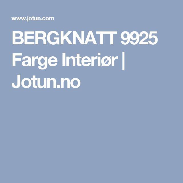 BERGKNATT 9925 Farge Interiør | Jotun.no
