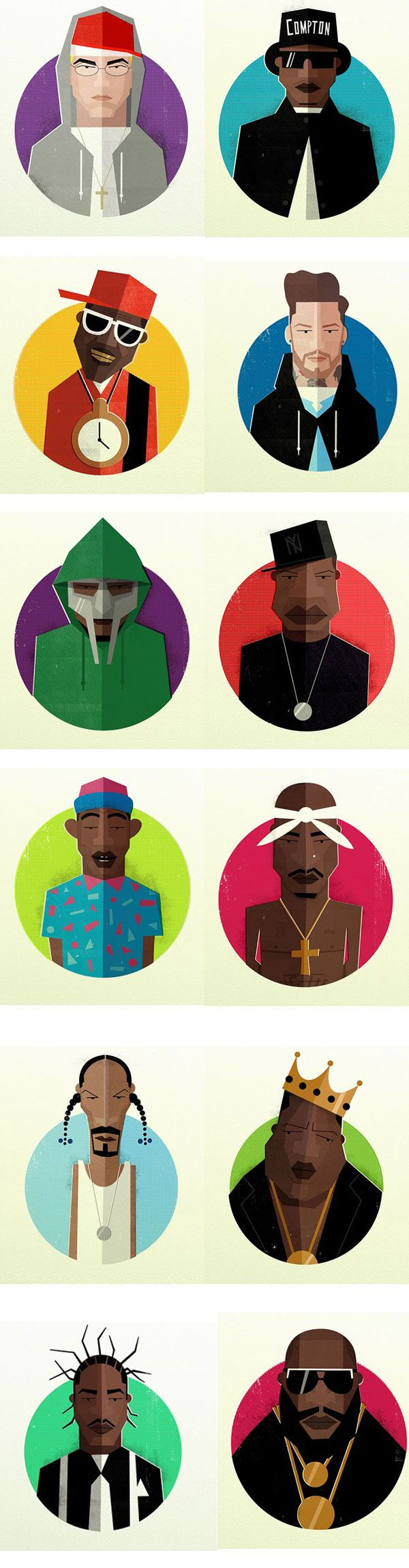 hip hop heads, portraits