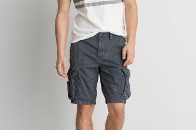 AEO Destroyed Classic Cargo Short by  American Eagle Outfitters | The comfortable cargo short, ready for any adventure. Shop the AEO Destroyed Classic Cargo Short and check out more at AE.com.