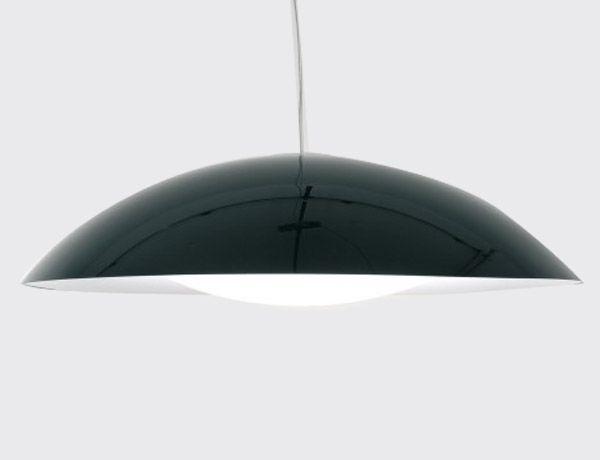 Lámpara Neutra negra.  Diseño: Ferruccio Laviani. Neutra es una lámpara de suspensión de color negro compuesta por dos elementos, similares a dos conchas, que encierran la estructura. De forma circular y grandes dimensiones, tiene una extrema simplicidad formal.Diámetro de 90 cm.  http://es.ideesdisseny.com/eshop/illuminacio/sostre/lampada-neutra-negre-id-1333.htm