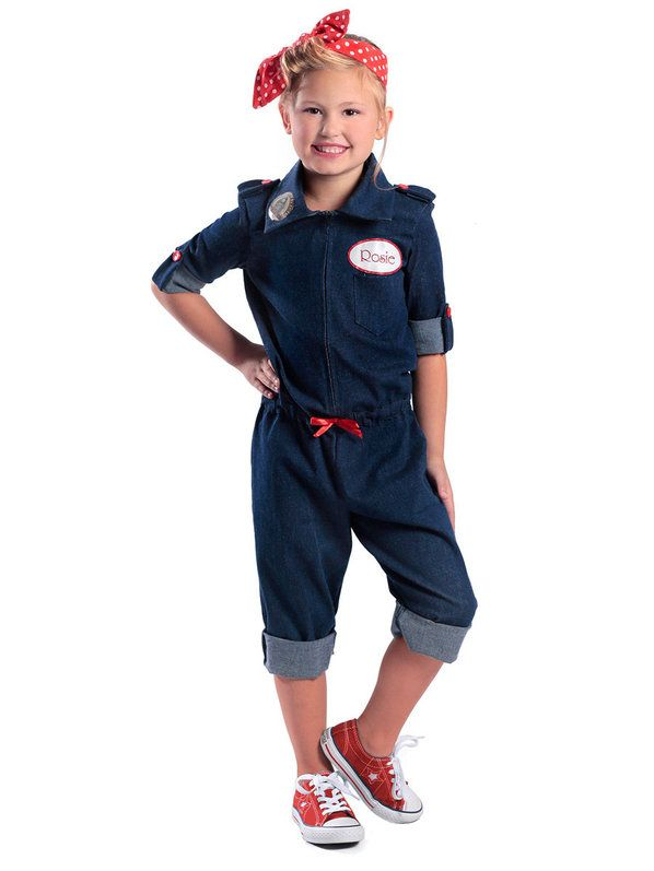 check out girls rosie the riveter costume historicpatriotic girls costumes from wholesale halloween - Rosie The Riveter Halloween Costume