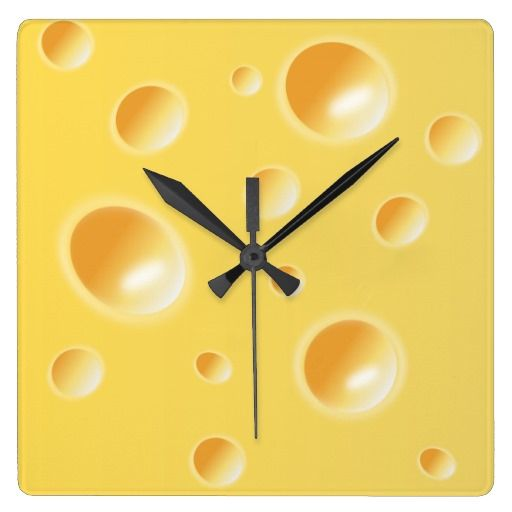 Yellow Swiss Cheese Texture Unique Kitchen Clock Food Furniture And Or Decor Pinterest Clocks