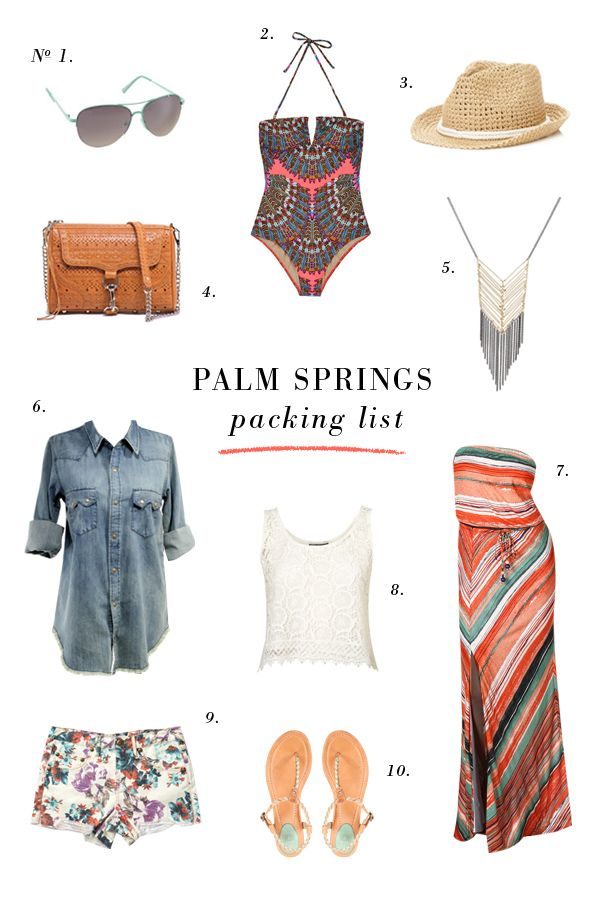 #PalmSprings Packing List for Your Next #Desert getaway!