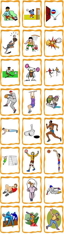 Les sports: jouer au foot, jouer au basket, jouer au tennis, etc... #sports #vocabulaire