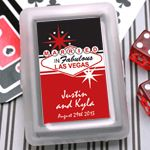 Married in Las Vegas Personalized Playing Cards - Personalized Playing Cards - Las Vegas Wedding Favors - Wedding Favor Themes - Wedding Favors & Party Supplies - Favors and Flowers