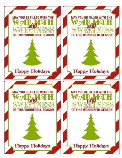 free christmas printables gift tags