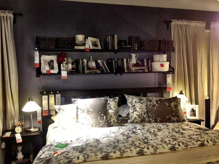 Shelf Above Bed From Ikea I Find This Display Very Busy