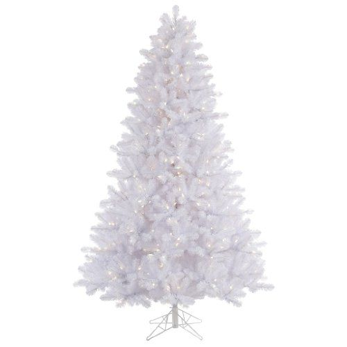 Vickerman 45 Crystal White Pine Artificial Christmas Tree With 300
