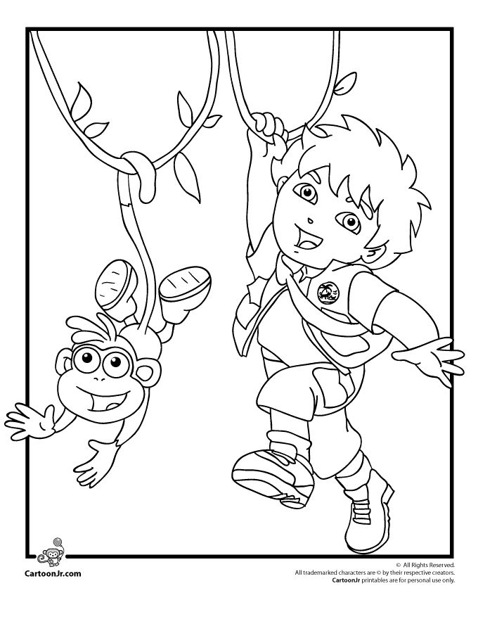 diego and baby jaguar coloring pages - 12 best go diego go coloring pages images on pinterest