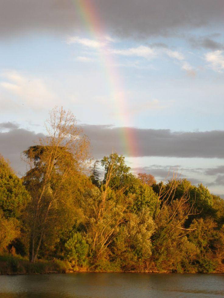 Arc en ciel sur le lac de Lamontjoie