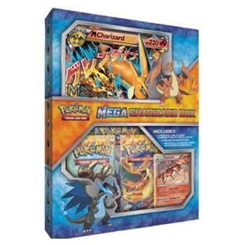 Pokemon Mega Charizard (Y) Ex Collection Box (3 Furious Fists Boosters + More)