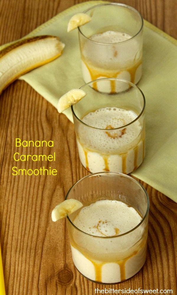 Banana Caramel Smoothie via @nancypira/ // #banana #caramel #smoothie #recipe