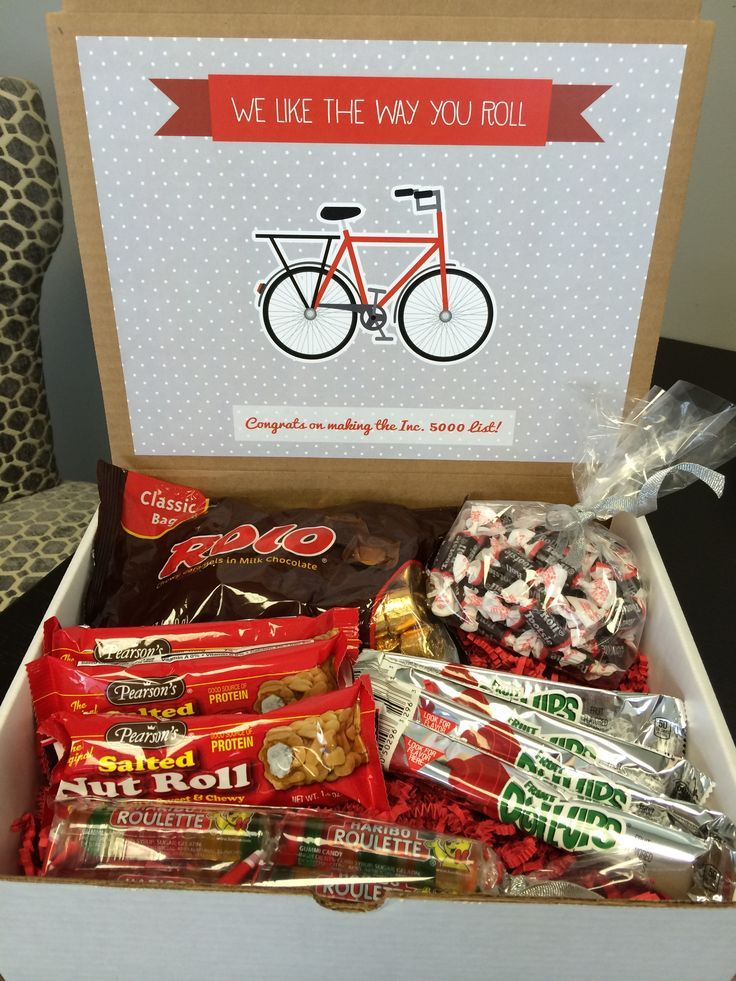 I Like the Way You Roll Box | For all types of congrats, includes Tootsie Rolls, Rolos, Fruit Roll-Ups, Salted Nut Rolls, and Haribo Roulettes