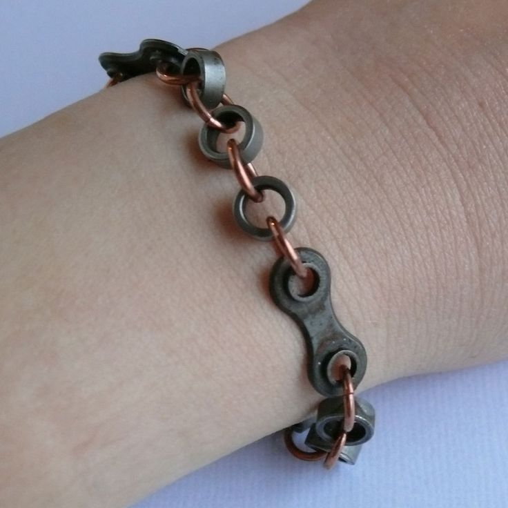 bike jewelry cycling bracelet bicycle chain and copper