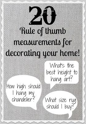 So helpful for hanging art, buying rugs, and choosing lighting