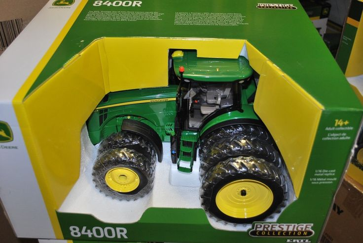 Vintage Manufacture 741: New 1 16 John Deere 8400R Tractor W Triples By Ertl, New In Box Nice -> BUY IT NOW ONLY: $130 on eBay!