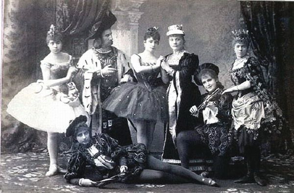 Love this!!! - Original cast of the ballet Sleeping Beauty at the Mariinsky Theatre, St. Petersburg, 1890, with Carlotta Brianza as Aurora, Marie Petipa (daughter of choreographer Marius Petipa) as the Lilac Fairy, Enrico Cecchetti as Carabosse, and Pavel Gerdt as the Prince.