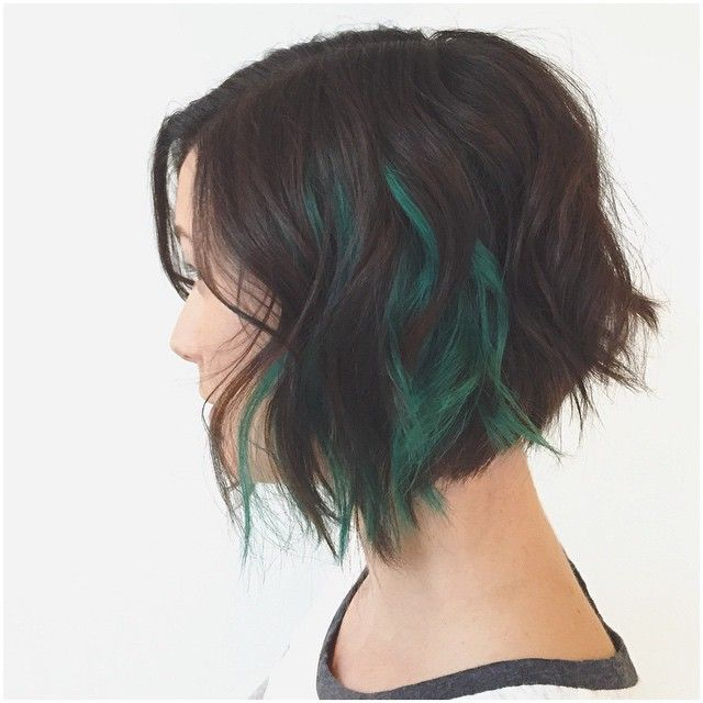 THIS is how you do fun colors...  And THIS is an absolutely spot on textured bob.