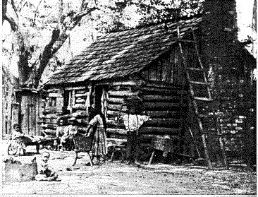 Slaves lived in less than favorable conditions. In this instance, slaves were made to sleep in log cabins with no beds. These plantation slaves and their families laid on the cold, damp floor of the wooden cabin when they were able to sleep. The slaves did not get many hours of sleep very often due to fact that most their time was spent preparing the field for the next days work.